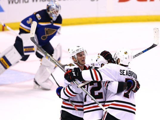 USP NHL: CHICAGO BLACKHAWKS AT ST. LOUIS BLUES S HKN USA MO