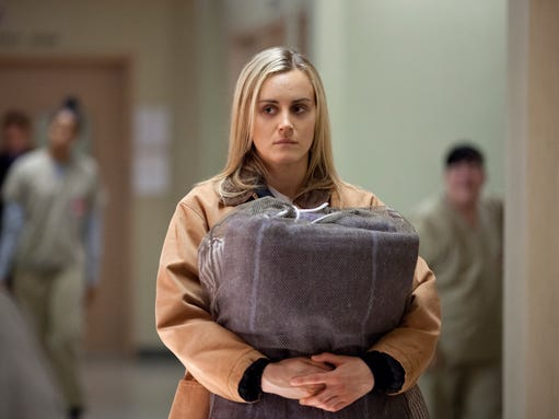 ORANGE IS THE NEW BLACK  Taylor Schilling in a scene from NetflixÂ?s Â?Orange is the New BlackÂ? Season 2.   HANDOUT Photo by Jessica Miglio for Netflix [Via MerlinFTP Drop]