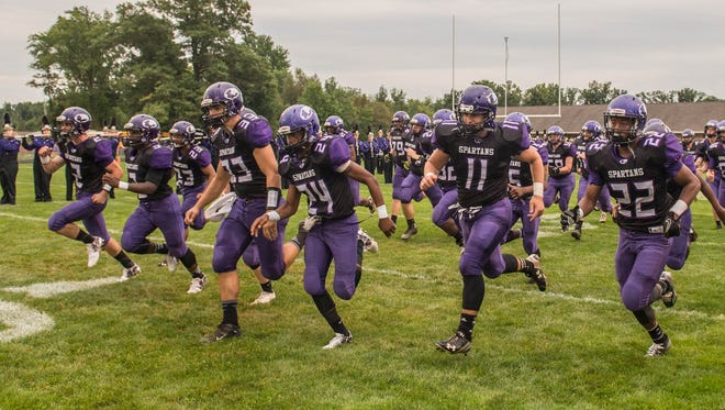 The Lakeview Spartans take the field Friday evening against Battle Creek Central.