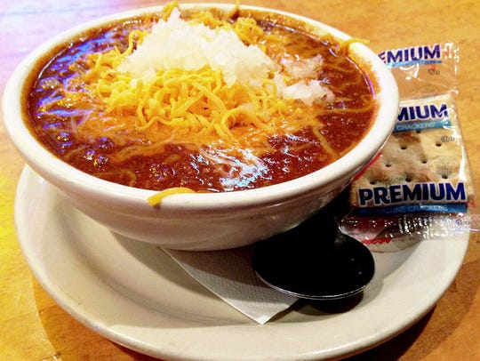 The Texaz Red chili from Texaz Grill uses beer, cayenne, Tabasco and more.