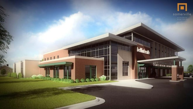 An architect's rendering of Bellin Health's new sports medicine clinic.