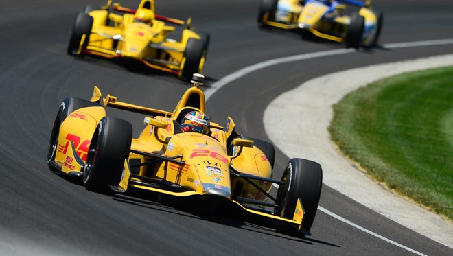 IndyCar Series driver Ryan Hunter-Reay during the 2014 Indianapolis 500 at Indianapolis Motor Speedway on May 25, 2014.