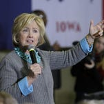 Democratic presidential candidate Hillary Clinton speaks during a town hall meeting Wednesday, Dec. 9, 2015, in Waterloo, Iowa. (AP Photo/Charlie Neibergall)