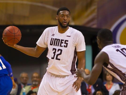 2015 MEAC Men's Basketball Tournament game between Hampton and UMESd