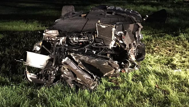 Bedford police said a teenager was charged with DWI after crashing a Ferrari on South Bedford Road on May 29, 2017.