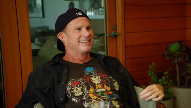 """Chad Smith of the Red Hot Chili Peppers on the set of the new PBS show """"Landmarks Live in Concert."""""""