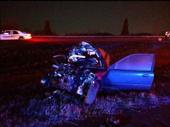 A Honda Civic was one of three vehicles involved in