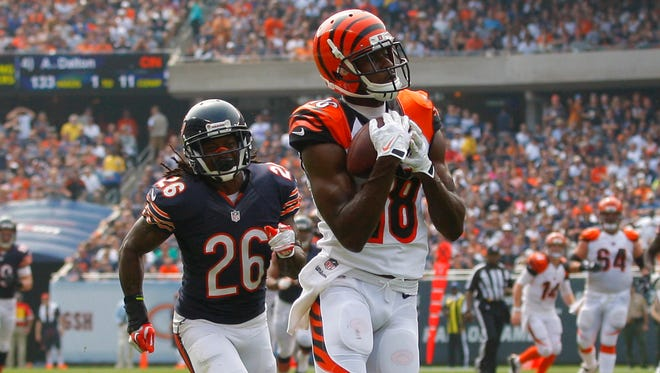 Bengals WR A.J. Green is closing in on his first 100-catch season.