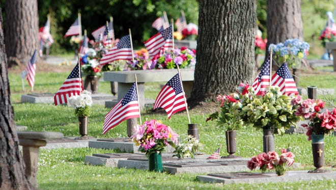 A Memorial Day service is held Monday at Fountain Memorial Funeral Home and Cemetery in Lafayette.