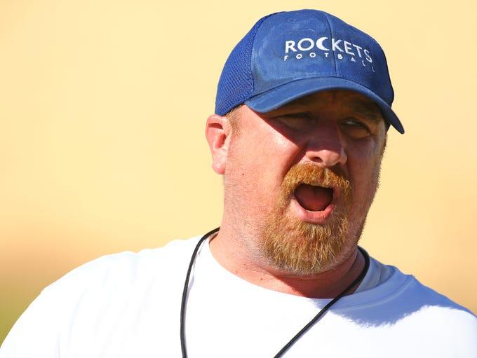 Moon Valley High School football coach Seth Millican