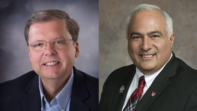 Rep. Pat Snyder, R-Schofield, and Rep. John Spiros, R-Marshfield