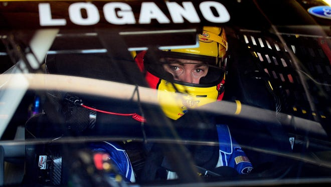 Joey Logano posted a track-record lap of 203.949 mph to win the pole for Sunday's Pure Michigan 400.