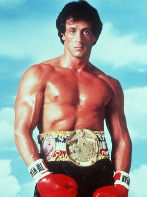 "Statesman Journal File Photo Sylvester Stallone poses in character as ""Rocky."""