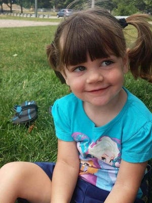 Police found Gabrielle Barrett, 4, unresponsive with severe burns on her body on New Year's Day.