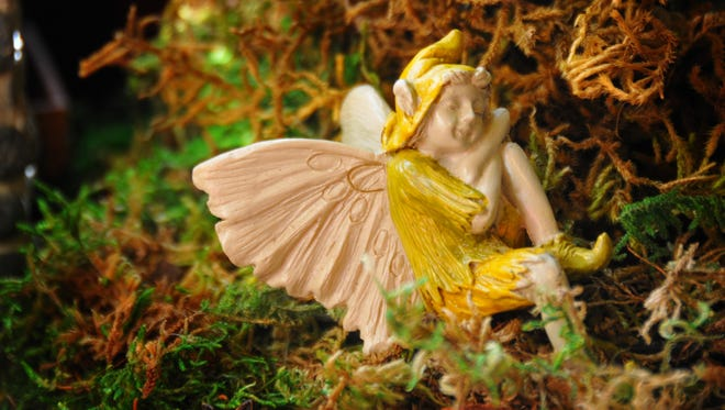 A new trend in gardening is fairy gardens, where gardeners use an assortment of small fairy figurines and tiny plants for the gardens.