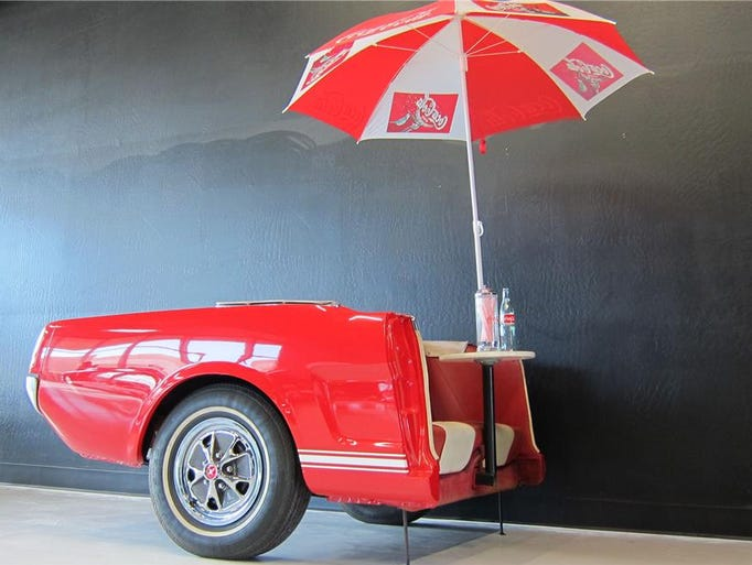 1999 special construction Mustang trailer.