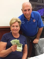 On Feb. 1, the Knights of Columbus San Marco Council #6344 hosted a bingo fundraiser in the San Marco Parish Center. Above, jackpot winner Lilian Longo of Long Island.