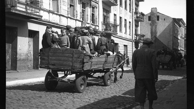 Lodz ghetto: Children being transported to Chelmno nad Nerem (renamed Kulmhof) death camp