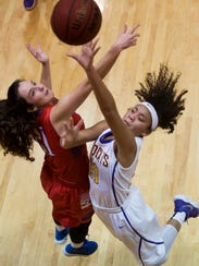 Katie Ray, 21, and Nariah Nicholson, 20, battle for