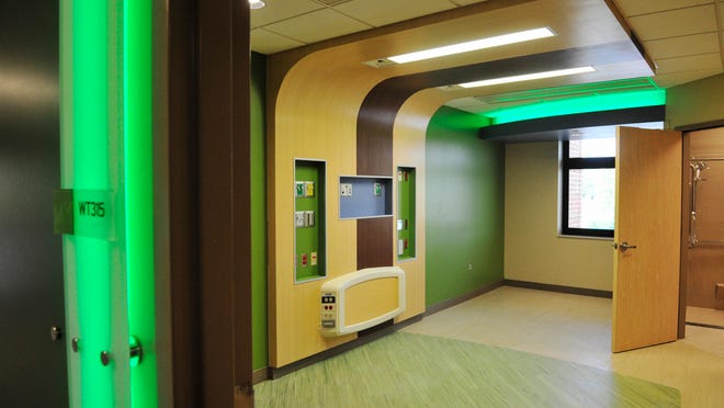 Construction of Monroe Carell Jr. Children's Hospital Vanderbilt at Williamson Medical Center is nearly complete, with final touches underway on the interior.