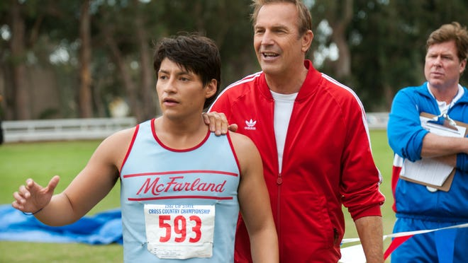 "Carlos Pratts and Kevin Costner star in ""McFarland, USA."""