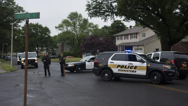 Police respond to a threat at Parkway Elementary School in Mt. Laurel. Tuesday, June 2, 2015.