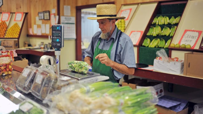 John Stoltzfus, who brought the Amish Market to Vineland, was at work Thursday. Stoltzfus helped design and then manage the Landis MarketPlace, which allocated its lower level from the start to Amish vendors.