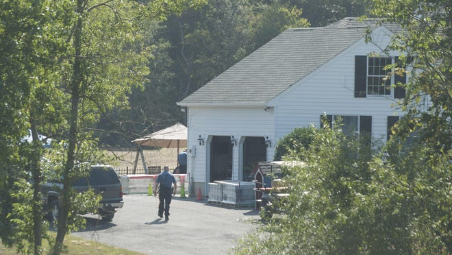 Police were on the scene outside a Barnsboro Road home Saturday after a 14-year-old girl attending a sleepover at the home collapsed and died.