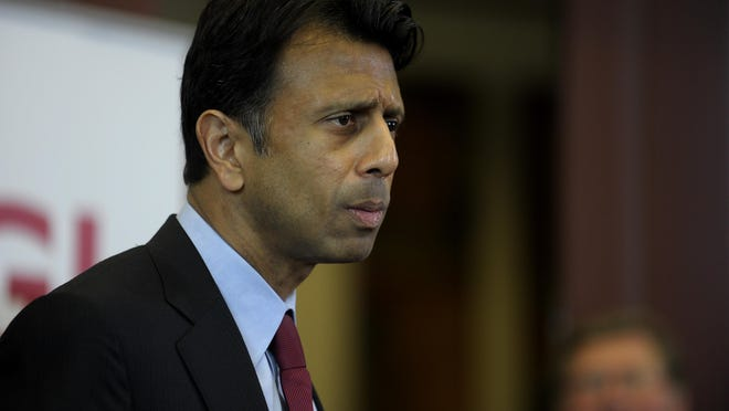 Gov. Bobby Jindal Louisiana Gov. Bobby Jindal announces the opening of a technology center by CGI Federal at a new research park owned by UL Lafayette during a press conference at the Lafayette Economic Development Authority in Lafayette, Monday, April 28, 2014.