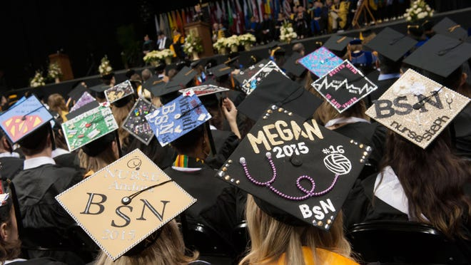 In all, 1,333 students were eligible to participate in Saturday's Commencement at Northern Kentucky University.