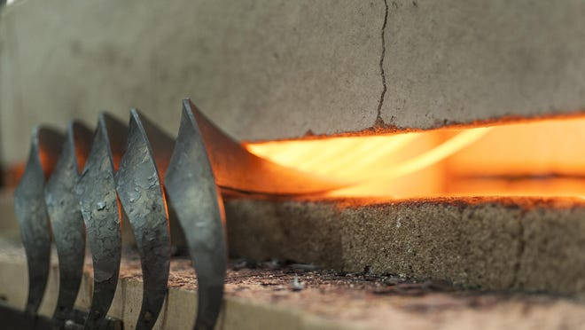 The flames at Hubbardton Forge.