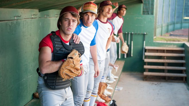 "Temple Baker plays Plummer, Blake Jenner plays Jake and Glen Powell plays Finnegan in ""Everybody Wants Some."""