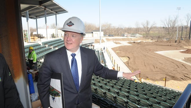 """Andy Appleby calls his stadium and league project in Utica """"an eight-year overnight success."""""""