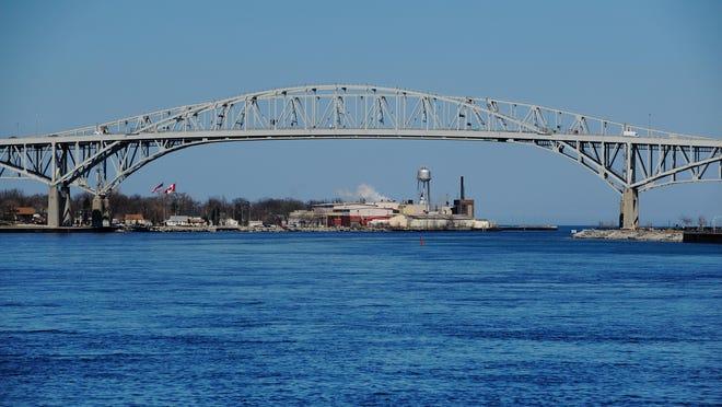 The Blue Water Bridge in Port Huron.