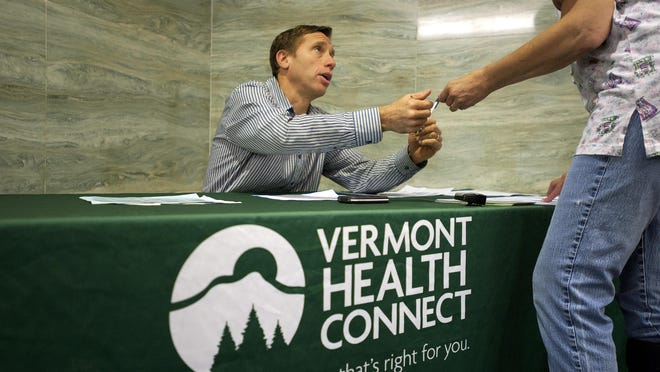 Vermont Health Connect sign