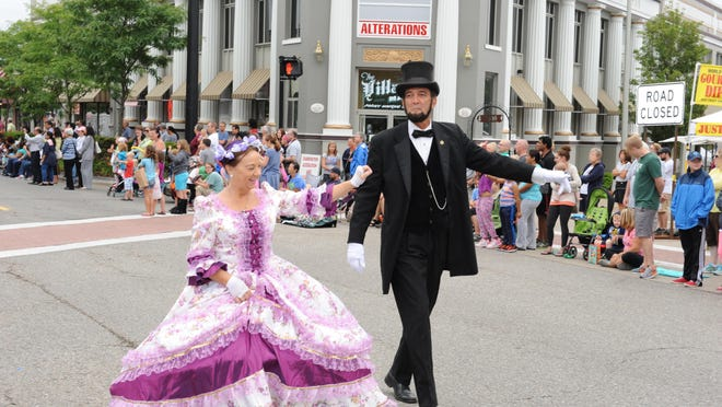 Abraham Lincoln and his wife made a visit to last year's Founders Festival parade. This year's parade takes place Saturday.