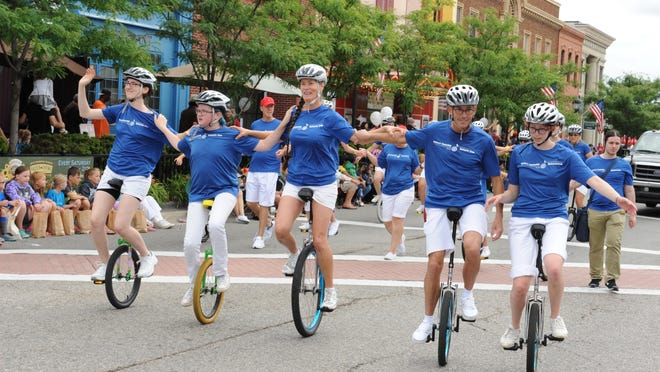 The Redford Unicycle Club rides in the Greater Farmington Founders Day Festival parade. All of the festival's activities except for the parade will move to Shiawassee Park in 2019.
