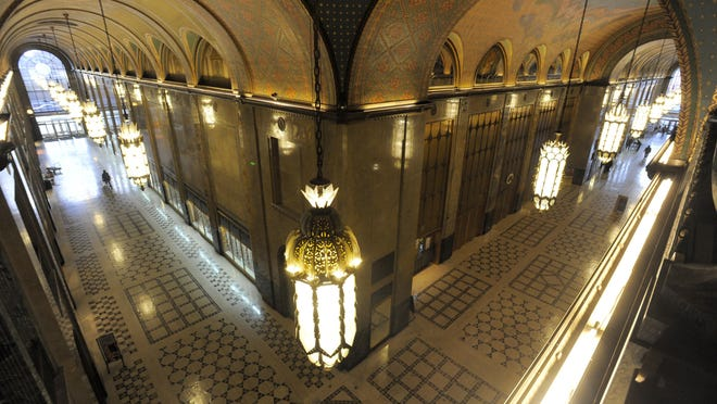 The Fisher building, which has National Historic Landmark status, is getting infrastructure upgrades and maintenance.
