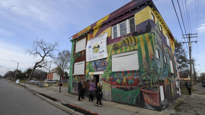 """The Michigan Urban Farming Initiative is developing what it says is the nation's first sustainable """"agrihood"""" on Detroit's north side."""