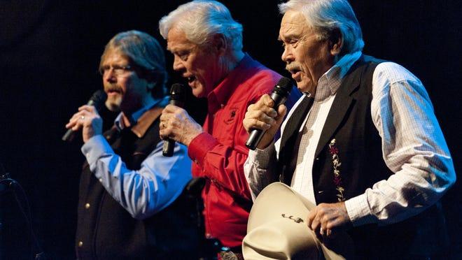 Sons of the San Joaquin, Joe Hannah, right, Jack Hannah and Lon Hannah, perform at the Visalia Fox Theater. The group will perform Saturday, Dec. 17 at the Visalia Fox Theatre.