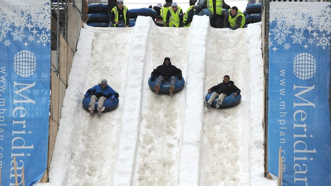 For 2017 the snow slide at the Meridian Winter Blast will be replaced with a tube-style slide. The event is Jan. 20-22 this year, to coincide with the North American International Auto Show.