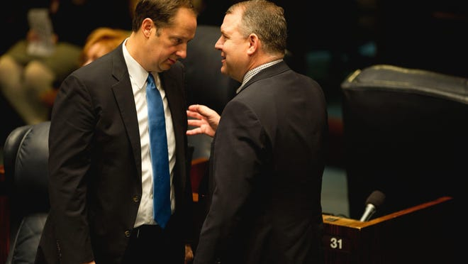 Florida senators Joe Negron, left, and Rob Bradley have been key players in Florida's environmental fundings.
