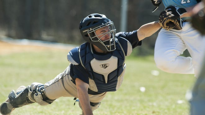 MMU catcher Kyle Leggett (11) has been chosen for the Hartford roster for the Twin State Baseball Classic in Concord, New Hampshire next week.