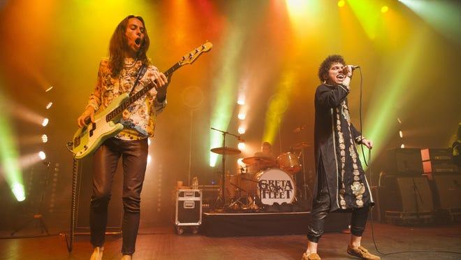 Greta Van Fleet bassist Sam Kiszka and lead singer Josh Kiszka will play three shows at the Fox Theatre.