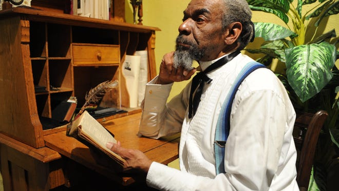 Oliver King portrays Frederick Douglass in a free program at Mamakating Library Jan. 30.