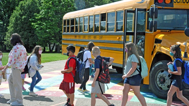 A new statewide database shows that 197 students and 122 staff members have tested positive for COVID-19. The cases reported by schools represent far less than 1% of Ohio's total cases so far. Students attending Triway Local and other districts wear masks in school and on school buses.