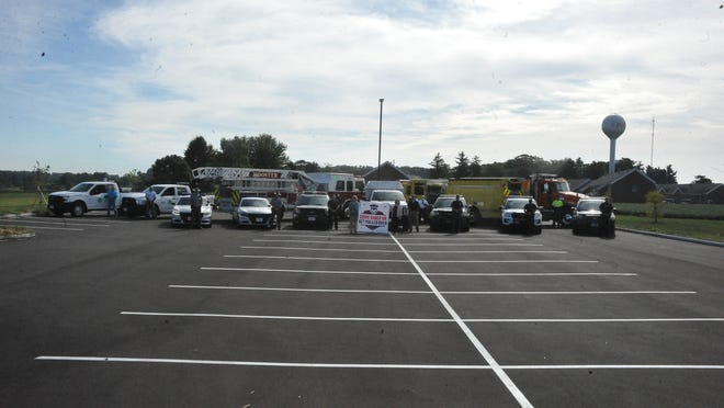 Local law enforcement vehicles were parked Friday morning at the OARDC/ATI parking lot near Fisher Auditorium to kick off the Wayne & Holmes Counties Safe Communities Coalitions' Drive Sober or Get Pulled Over campaign.