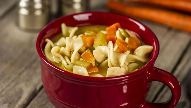 Chicken soup is perfect for a cold, winter day.