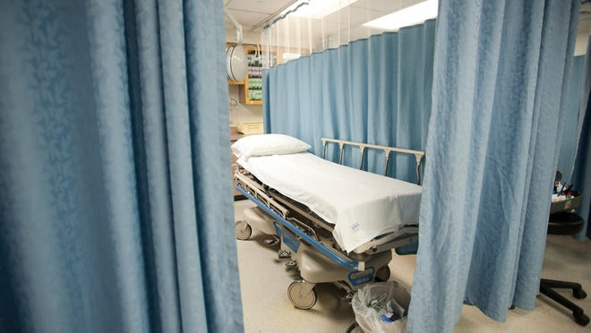 A bed at the Porter Medical Center in Middlebury.