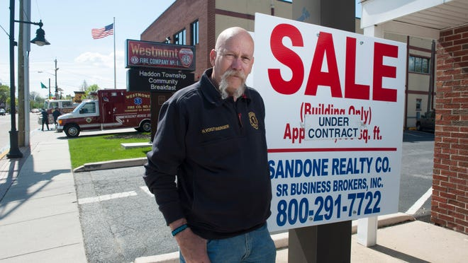 Haddon Township Fire Commissioner Hank Voigtsberger is seen at the property that Fire District No. 1 plans to purchase for <137>some much needed<137> office space<137> on Friday<137>. <137>Friday, May 2, 2014.<137>